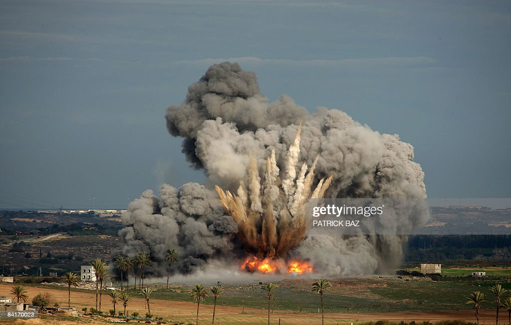 A picture taken from the Israeli side of : News Photo