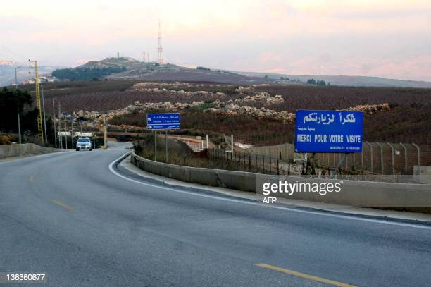 A picture taken from the Lebanese side shows a fence on the border separating southern Lebanon from Northern Israel near the town of Adaysseh on...