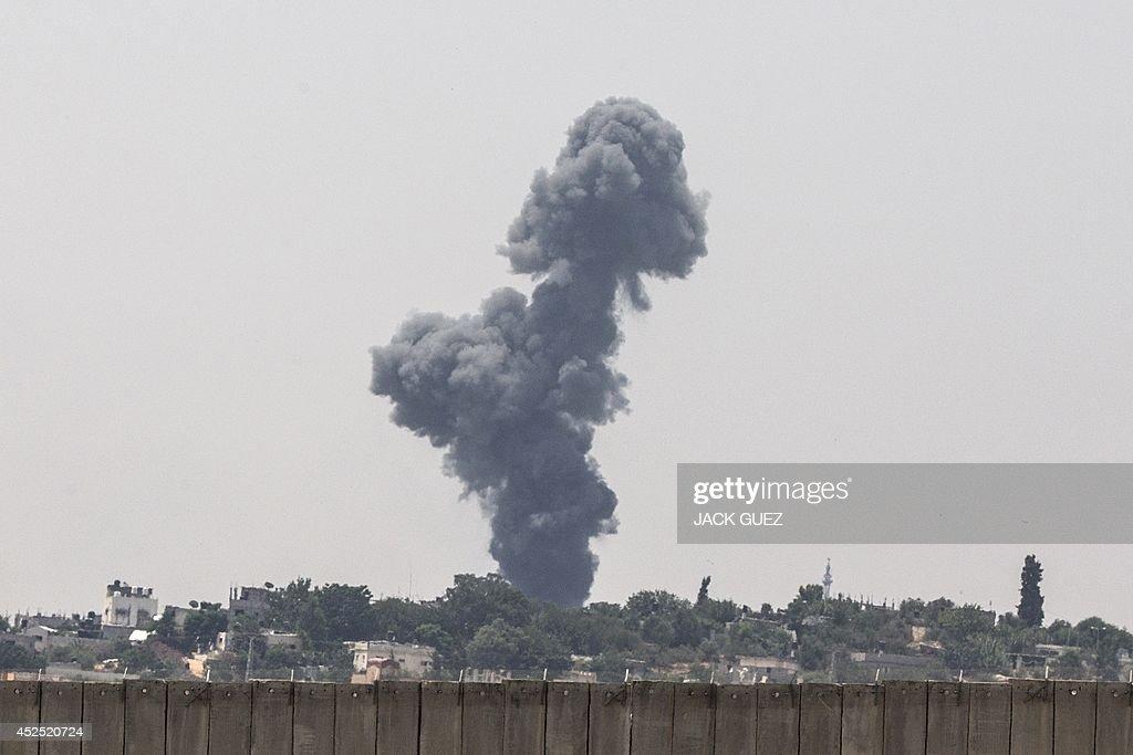 ISRAEL-PALESTINIAN-CONFLICT-GAZA : News Photo