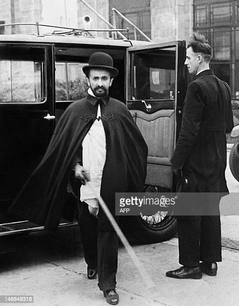 Picture taken in 1936 in London of Ethiopian Emperor Haile Selassie the last Emperor of Ethiopia Haile Selassie led the revolution in 1916 against...