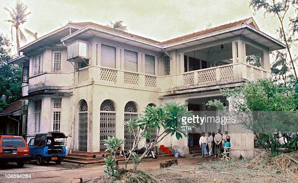 A picture taken in 1990 shows the house on new University Avenue road in Yangon where Myanmar's democracy icon Aung San Suu Kyi is spending her days...