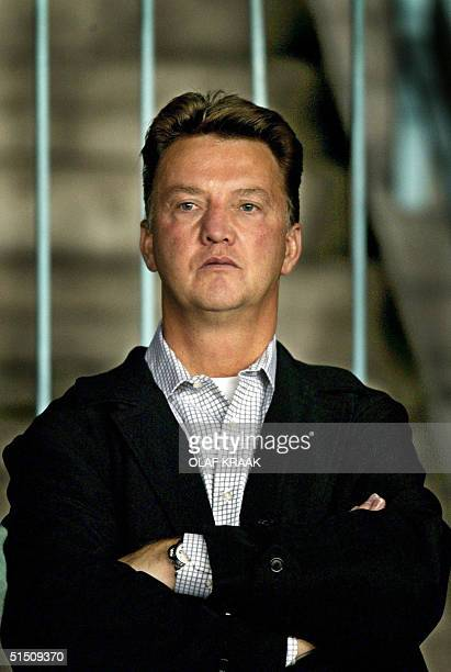 A picture taken in 2003 shows technical manager of the Ajax football club Louis van Gaal who is to leave the team the Ajax announced on its internet...