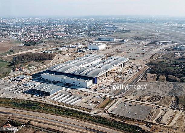 Picture taken in 2004 in Toulouse shows the EADS finalassembly line hall of Airbus airliners The FrenchGerman consortium EADS who is the...