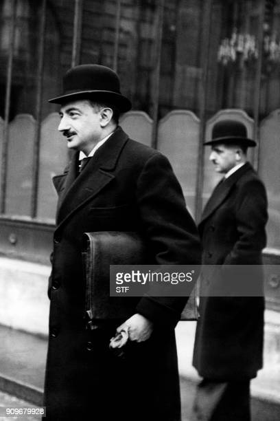 Picture taken in April 1937 shows French Minister of Commerce Paul Bastid / AFP PHOTO / STF