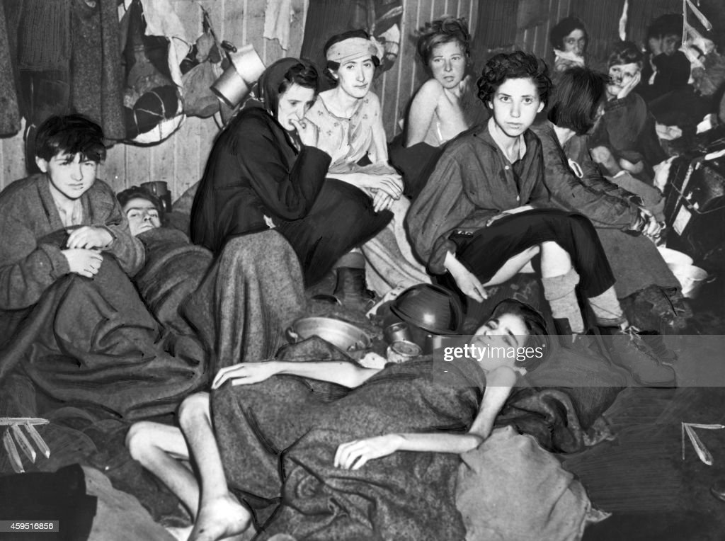 NAZI CAMP-LIBERATION-FEMALE DEPORTEES : News Photo
