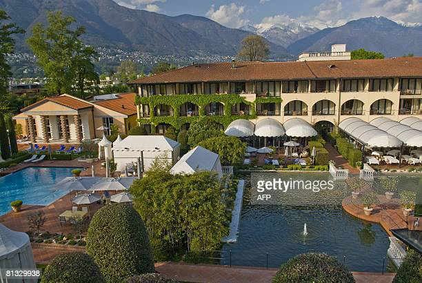 A picture taken in Ascona Switzerland shows the Hotel Giardino that will host the German national football team during the Euro 2008 Germany captain...