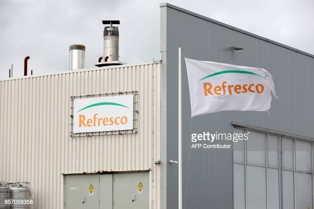 A picture taken in Boegraven on October 3 2017 shows a view of the Refresco factory Refresco Europe's largest juice and softdrink maker said on...