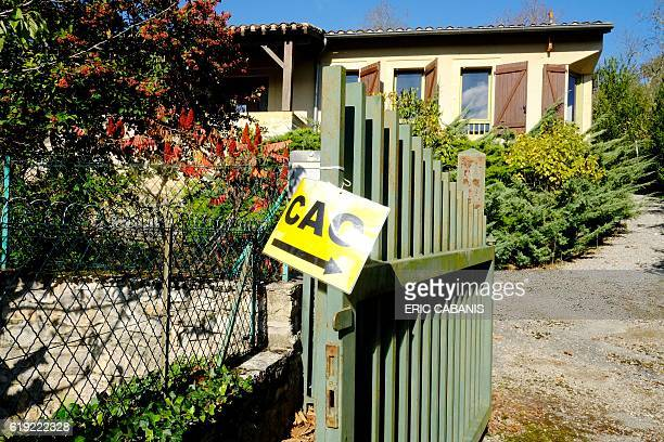 A picture taken in Bruniquel near Montauban southern France on October 27 2016 shows the Centre dAccueil et dOrientation pour migrants' a former...