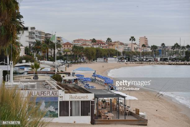 A picture taken in Golfe Juan southeastern France on September 15 2017 shows the 'Vallauris plage' beach restaurant The Nice administrative court is...
