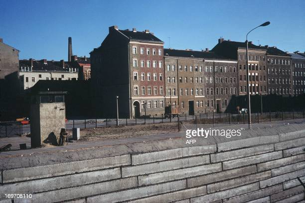 Picture taken in June 1968 of the Berlin Wall and East Berlin The Berlin wall built by the East German government to seal off East Berlin from the...