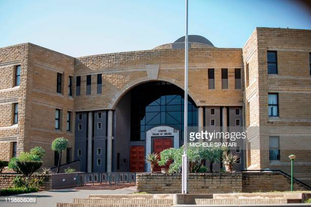 Picture taken in Maseru, Lesotho, on February 2, 2020 shows the exterior of the Palace of Justice of Lesotho. - Lesotho's first lady Maesaiah Thabane...