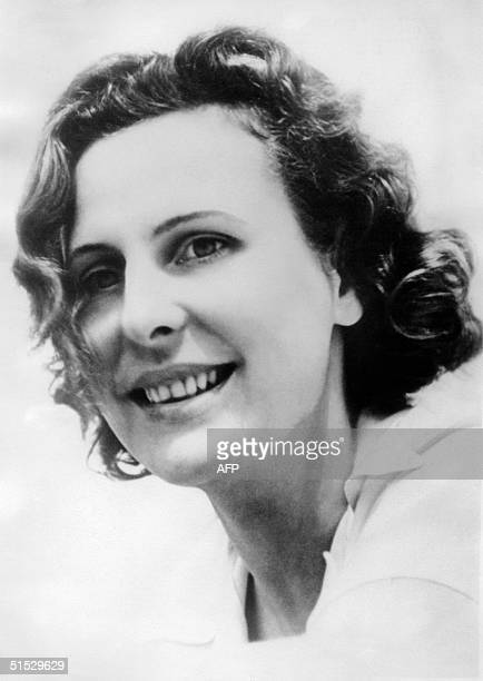 Picture taken in October 1939 in Germany of Leni Riefenstahl German photographer and filmmaker notorious for her artistic collaboration with Adolf...