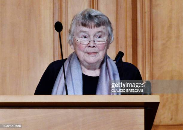 Picture taken in Stockholm on January 29 2016 shows Lisbeth Palme widow of former Prime Minister Olof Palme Lisbeth Palme the widow of Swedish prime...