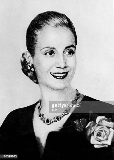 Picture taken in the 1940s in Buenos Aires of Eva Peron Eva Peron known as Evita the second wife of Argentine President Juan Peron was a radio and...