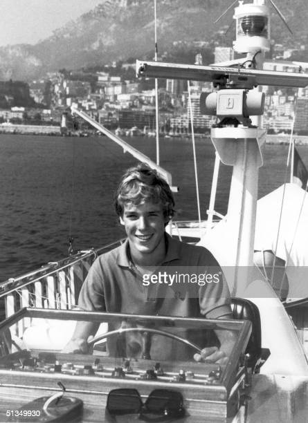 Picture taken in the 1970s in Monte Carlo of Monaco's crown Prince Albert