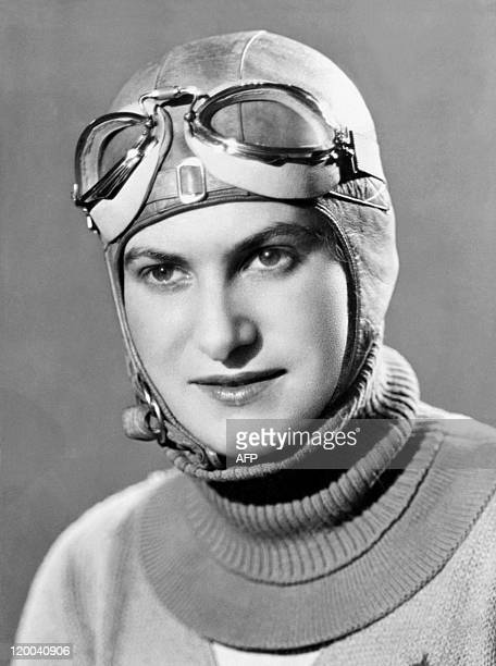 Picture taken in the 30s of French woman aviator Helene Boucher who was the 'fastest pilot woman in the world' 11 August 1934 at Istres when she set...