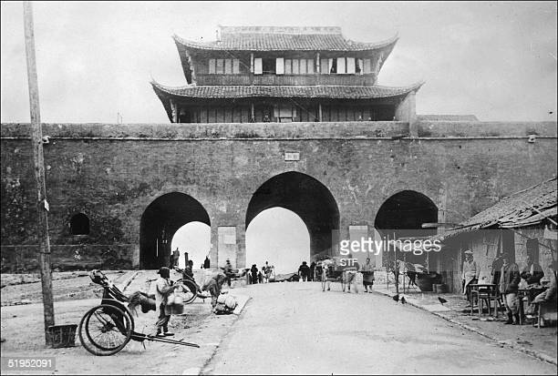 Picture taken in the 30s of Nanjing the capital of the Jiangsu province on the Yangtze river in the SouthEast of China Nanjing was the capital of...