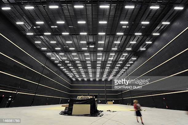 Picture taken inside the new studios of La Cite Europeenne du Cinema on June 20 2012 in SaintDenis outside Paris This ambitious project initiated by...