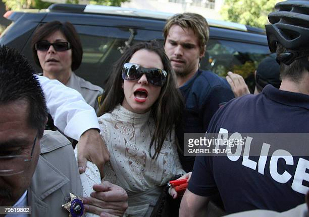 FILES Picture taken January 14 2008 shows US pop star Britney Spears arriving at the Los Angeles County Superior courthouse for a hearing regarding...