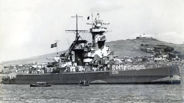 Picture taken on 14 December 1939 in the port of Montevideo Uruguay of German pocket battleship Admiral Graf Spee The 12000 tons vessel was scuttled...