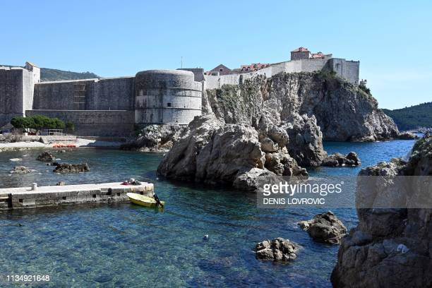 "Picture taken on 28 March, 2019 shows Croatia's mediaeval walled city of Dubrovnik, also a set for the HBO series ""Game of Thrones"" . - The city of..."
