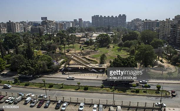 A picture taken on 30 April 2015 shows a general a view of the Merryland park in Cairo It was a symbol of a more liberal Egypt where young Muslims...