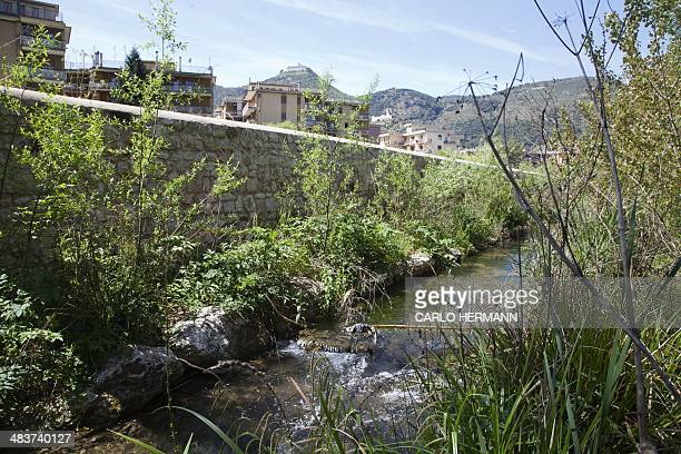 A picture taken on April 10 2014 shows the Rapido River in Cassino south of Italy AFP PHOTO / CARLO HERMANN