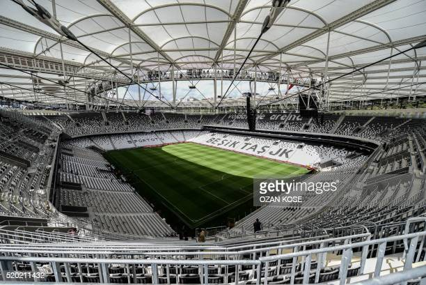 A picture taken on April 10 2016 in Istanbul shows a general view of the Besiktas football club's Vodafone arena new stadium on the opening day AFP...