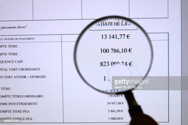 A picture taken on April 15 2013 in Paris shows the page of the website in which French government reveals French Junior Minister for the Elderly and...