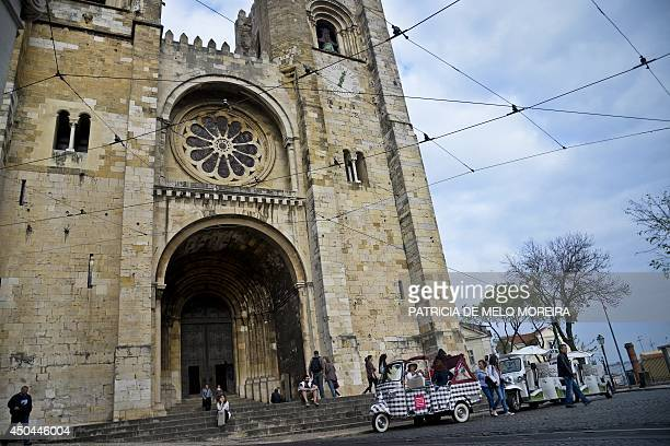A picture taken on April 15 2014 shows the Lisbon Cathedral in the Alfama neighborhood of Lisbon AFP PHOTO / PATRICIA DE MELO MOREIRA