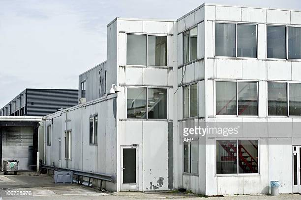 A picture taken on April 16 2013 shows the outside of a plant of meat processor Willy Selten in Oss Dutch food regulatory authorities in Utrecht on...