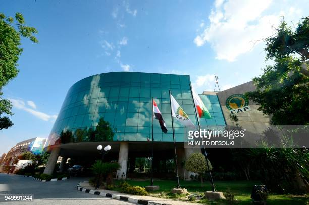 Picture taken on April 22, 2018 shows the headquarters of the Confederation of African Football in Cairo.