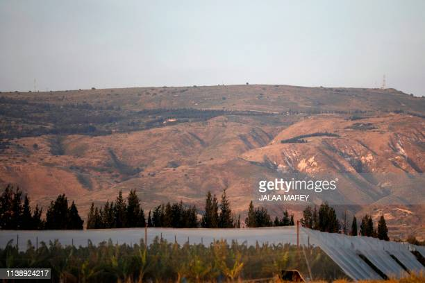 A picture taken on April 23 2019 shows a general view of the Israeliannexed Golan Heights which Israel seized from Syria in the 1967 SixDay War...