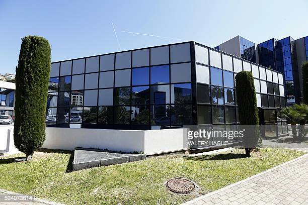 A picture taken on April 25 2016 shows the mosque of the EnNour institute in Nice southeastern France Nice Mayor Christian Estrosi received on April...