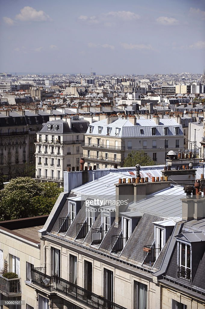 A picture taken on April 27, 2010 in Paris shows tops of buildings.