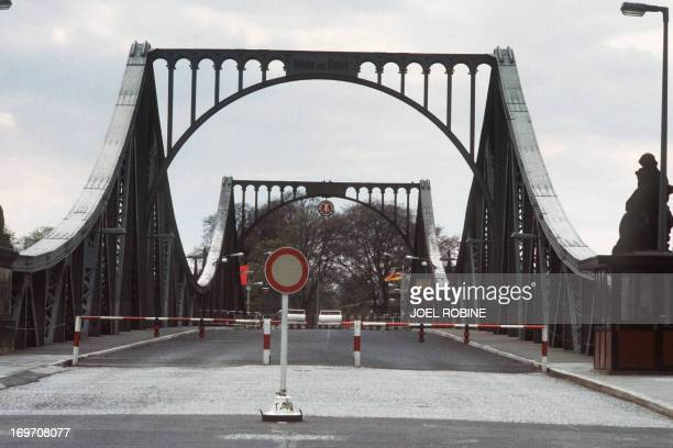 Picture taken on April 29 1984 of the Glienicker bridge or Brücke der Einheit which was used by the Soviet Union and the United States to exchange...