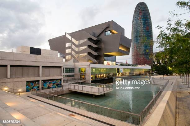 A picture taken on August 11 shows The Agbar tower in Barcelona candidate to host the European Medicines Agency headquarters Barcelona is one of the...