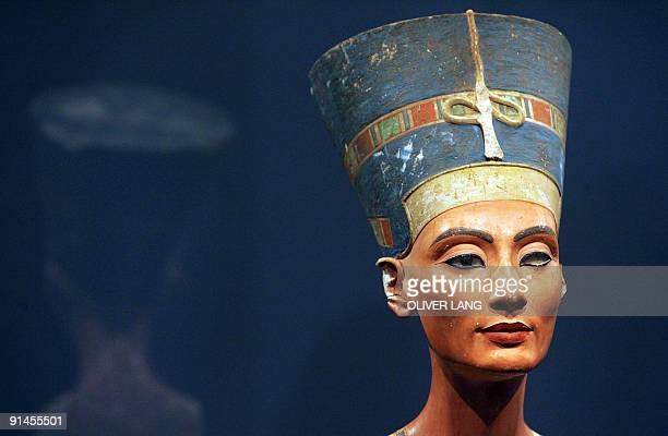 FILES Picture taken on August 12 2005 show the bust of one of history's great beauties Queen Nefertiti of Egypt after returning to Berlin's Museum...
