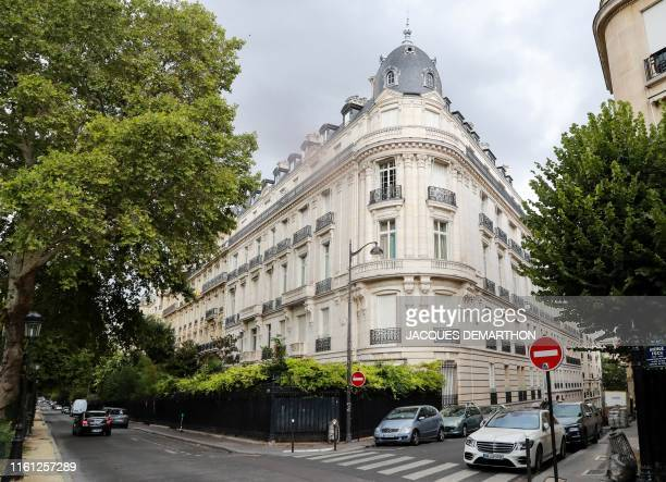A picture taken on August 12 2019 shows an apartment building owned by Jeffrey Epstein in the 16th arrondissement of Paris Two French government...