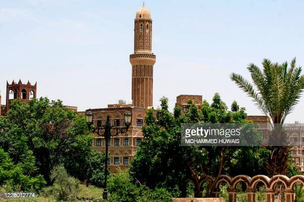 Picture taken on August 12 shows UNESCO-listed buildings in the old city of the Yemeni capital Sanaa.