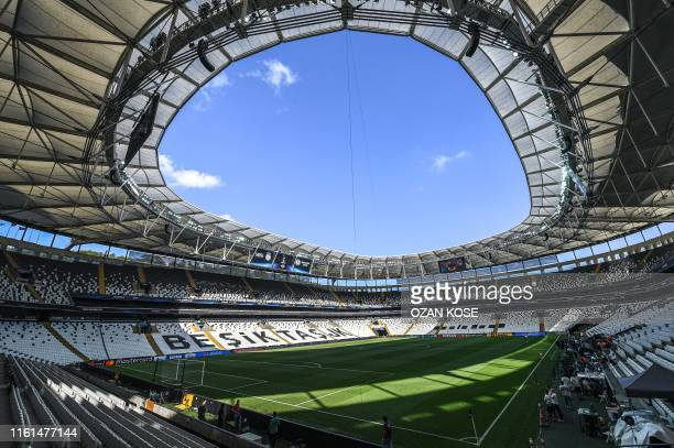 A picture taken on August 13 2019 in Istanbul shows a general view of Besiktas Park stadium ahead of the upcoming UEFA Super Cup football match...