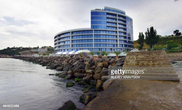 A picture taken on August 13 205 shows a view of one of the newest hotels built in the southern Ukrainian city of Odessa One Crimean tourism official...