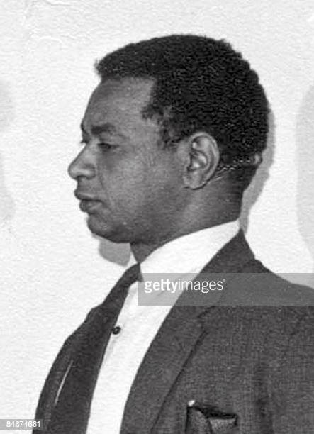 A picture taken on August 15 1965 shows Sudanese novelist Tayeb Saleha at the BBC studios in London during a group interview at the broadcast's...