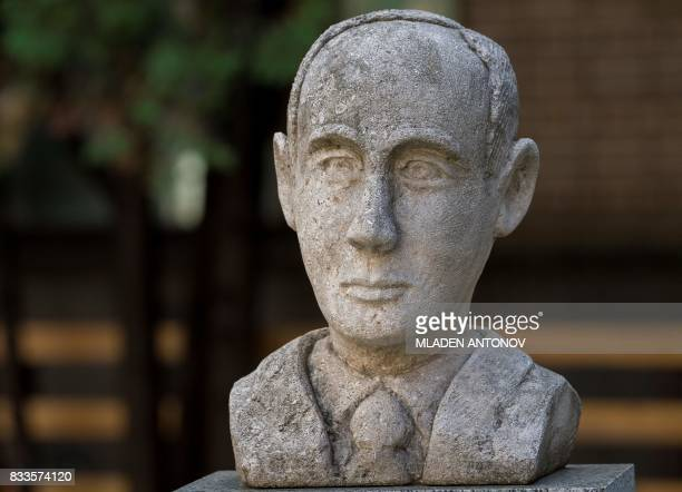Picture taken on August 15, 2017 shows a memorial bust of Swedish diplomat Raoul Wallenberg in Moscow. - Russia on August 17, 2017 set a hearing date...