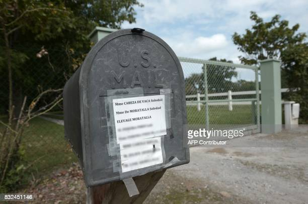 A picture taken on August 16 2017 shows a mail box of the domain of Coumeres home of Soledad Cabeza de Vaca marchioness of Moratalla A complaint for...