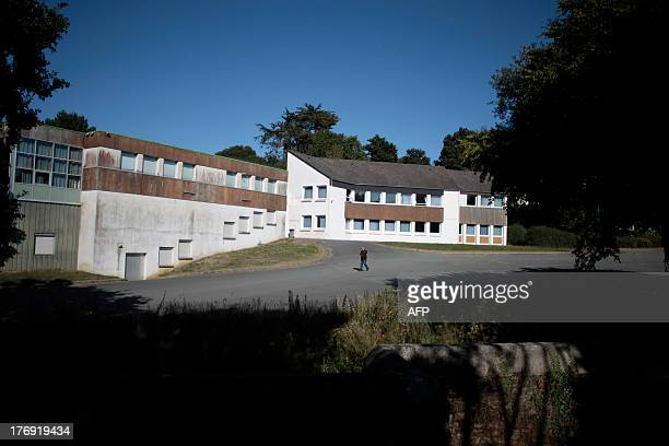 A picture taken on August 19 2013 in PommeritJaudy north western France shows the buildings of a school used for an 'Educative summer camp' from...
