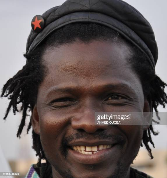 Picture taken on August 2, 2011 shows Burkina Faso reggae musician Samsklejah in Ouagadougou. Samsklejah and his friend, rapper Smockey, use their...
