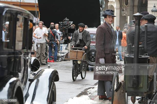 A picture taken on August 24 2010 shows part of the film set of 'The Invention of Hugo Cabret' directed by US Martin Scorsese in Paris On September...