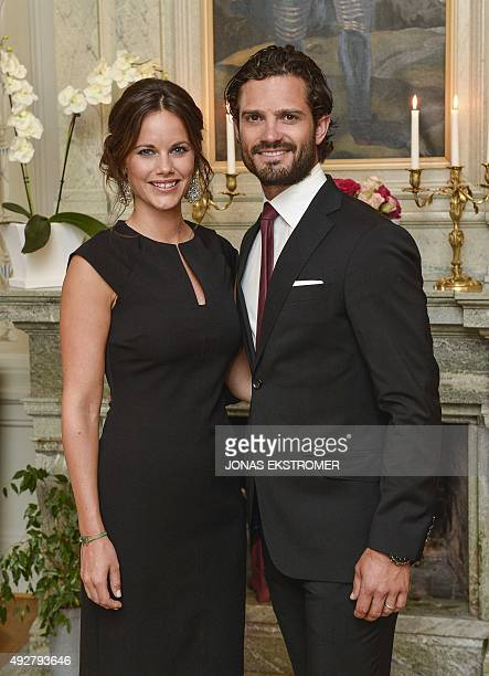 Picture taken on August 26 2015 shows Sweden's Prince Carl Philip and Princess Sofia in Karlstad Sweden Sweden's Prince Carl Philip and his wife...