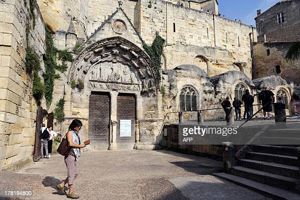 A picture taken on August 27 2013 shows part of the village of SaintEmilion southwestern France SaintEmilion is one of the principal red wine areas...